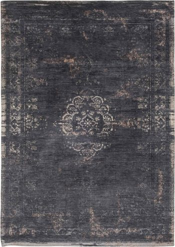 Louis De Poortere rug LX 8263 Fading World Medaillon Mineral Black