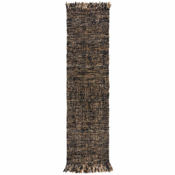 Anversa Rugs Idris Jute Wool Idris Black Natural 5